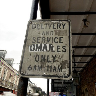 Bourbon Street delivery and service parking is spotty. (Photo by Doug MacCash / NOLA.com | The Times-Picayune)