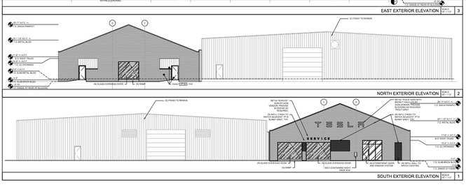 Plans filed with the City of New Orleans show designs for a new Tesla Motors service and delivery center at 2801 Tchoupitoulas St.