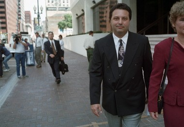 Joseph Gagliano leaves the federal courthouse in New Orleans in 1995 after pleading guilty to racketeering charges in the Worldwide Gaming video poker case.