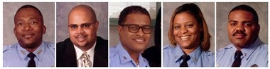 Five NOPD officers were the subject of an inquiry over their handling of sex-crime and child-abuse cases. They have been transferred out of the Special Victims Section and are under internal inquiry. From left to right: Akron Davis, Vernon Haynes, Merrell Merricks, Damita Williams and Derrick Williams.