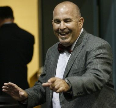 Stephen Weber, Destrehan High School principal, at 2012 commencement.