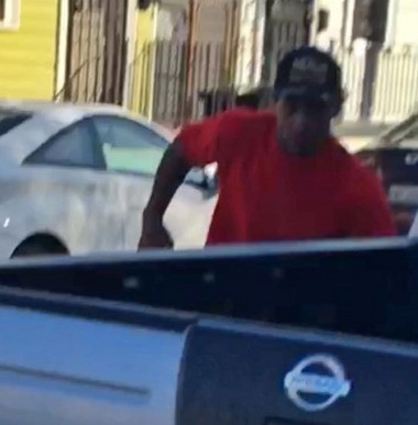 A Marignyresident told police she saw thisman burglarizing a home in the 2700 block of Burgundy Street onSunday afternoon (March 6). Lady Robin Walker said shedoused the man with pepper spray.