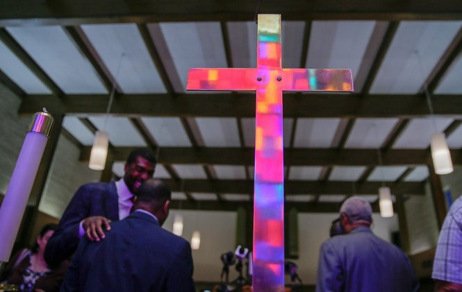 The faith based community gather to call on the federal agencies to include state criminal charges in the shooting death of Alton Sterling investigation during a Together Baton Rouge press conference held at the Wesley United Methodist Church in Baton Rouge.