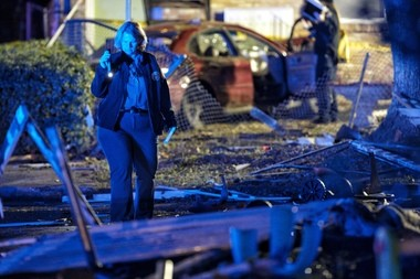 A person was killed and two others wounded in a triple shooting at Flanders and Socrates streets in Algiers on Sunday night, Dec. 11, 2016, New Orleans police said. (Chris Granger, NOLA.com | The Times-Picayune)