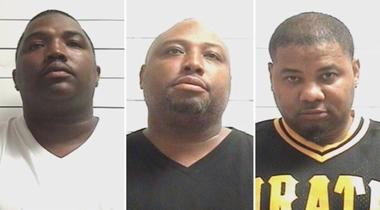 From left: Philip Johnson, 38; Clyde Johnson, 43; and Corey Maurice, 41.