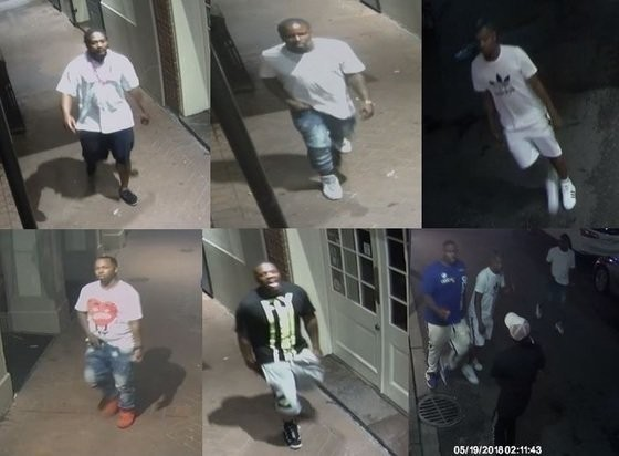 NOPD is seeking the following people for questioning about a shooting in the French Quarter early Saturday (May 19) morning.