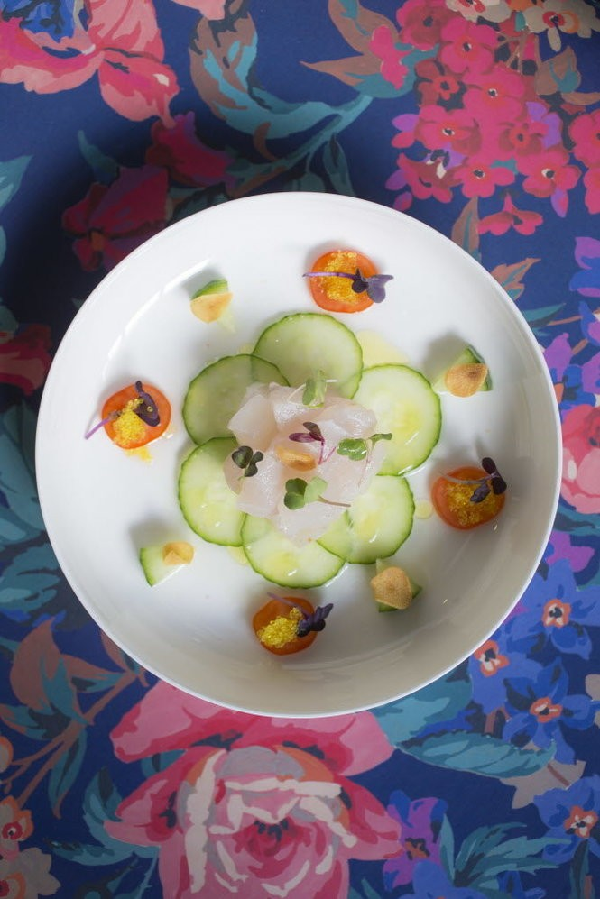 The Snow White features white fish ceviche, fried garlic and yuzu sauce.