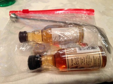 """TSA-approved"" airport survival kit"