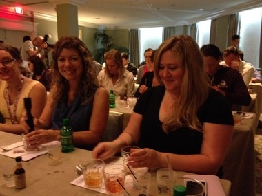 Participants at Tales of the Cocktail stir up Old Fashioned cocktails at a seminar Saturday (July 19, 2014).