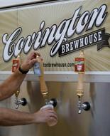 Covington Brewhouse Pontchartrain Pilsner is poured. (David Grunfeld, NOLA.com | The Times-Picayune)