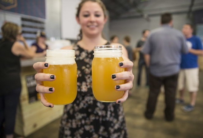 Fresh beer at Urban South Brewery on Tchoupitoulas Street in New Orleans on Thursday, May 12, 2016. (Photo by Chris Granger, Nola.com | The Times-Picayune)
