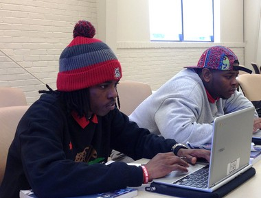 Clark High students Alvin Haley, left, and Herbert Cooper III take a construction safety certificate class at Delgado Community College. The young men are interested in careers as carpenters and electricians -- in-demand in the booming New Orleans market.