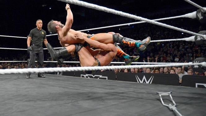 Gargano was able to kick out after this Project Ciampa from the middle rope.