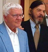 John Clemmer, left, in 2010 with George Dureau, who also died last week.