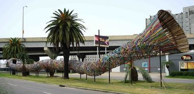 "'Funnel Tunnel"" sculpture by Patrick Renner  (Photo by Doug MacCash, NOLA.com 
