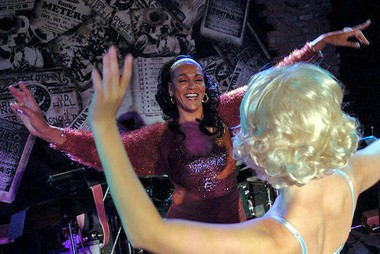 "Dollie Rivas, a former Vegas showgirl, pictured here in 2006 going over choreography Trixie Minx prior to the 50's-style Bustout Burlesque show at Tipitina's French Quarter. 'I knew that one of the most important things about burlesque was the ""art of the tease"" as well as eye contact with the audience,' Rivas said. 'It is theater and dance.' (Photo by Michael DeMocker, NOLA.com 