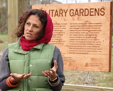 Artist Jackie Sumell created 'Solitary Gardens' to illustrate solitary confinement conditions. (Photo by Doug MacCash / NOLA.com | The Times-Picayune)