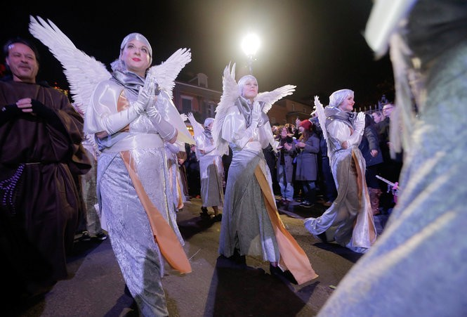 The Joan of Arc parade makes its way through the French Quarter in New Orleans on Wednesday, January 6, 2016. The Joan of Arc parade is an annual parade celebrating St. Joan of Arc's birthday. (Photo by Brett Duke, Nola.com | The Times-Picayune)