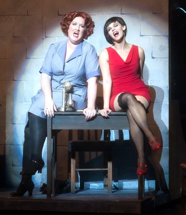 Matron Mama Morton (Kate Arthurs-Goldberg) and Velma (Kristen Sandler) bemoan the loss of 'Class' in modern society in a second-act highlight from 'Chicago.'