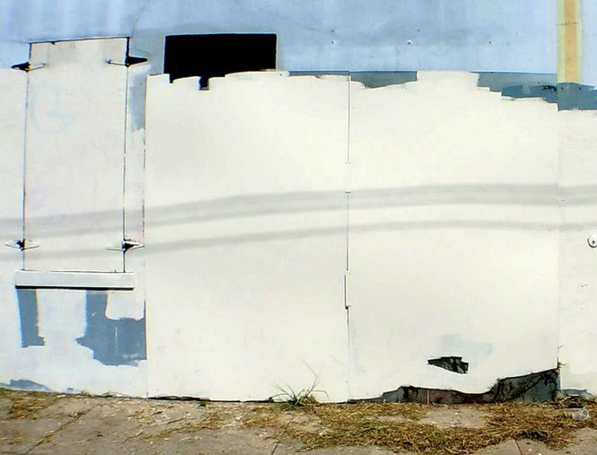 The state of Banksy's Elysian Fields Avenue looters stencil in 2013 (Photo by Doug MacCash, NOLA.com | The Times-Picayune)