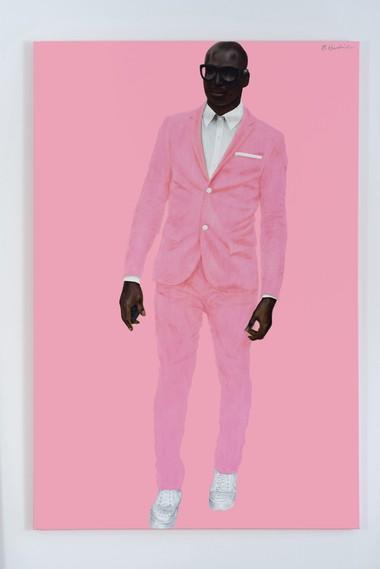 Barkley L. Hendricks, Photo Bloke, 2016. Oil and acrylic on linen.