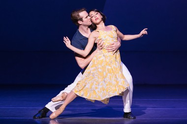 McGee Maddox stars as Jerry, the painter, who falls in love with the ballet dancer, Lise, played by and Allison Walsh, in 'An American in Paris.'