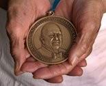 A James Beard Award medal