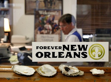 Sal Sunseri Jr. sits at his desk at the family-run P & J Oyster Company in New Orleans in 2011. The business has cut back on its employees. It now sells only one-quarter of the in-the-shell oysters that it did before the BP spill. (David Grunfeld, NOLA.com | The Times-Picayune)