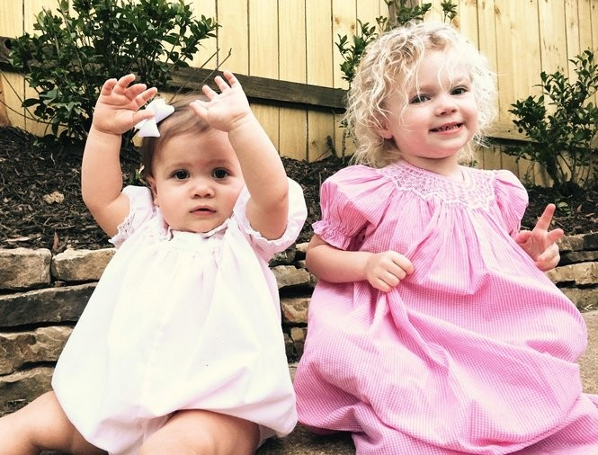 Josephine Estelle, the new restaurant at the Ace Hotel, is named after the two chefs' daughters: one-year-old Josephine Ticer (left) and three-year-old Estelle Hudman (right). (Courtesy of Ace Hotel)