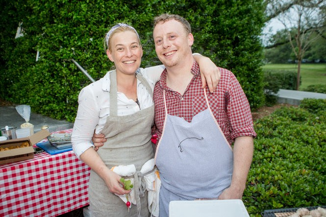 Kristen Essig and Michael Stoltzfus, here at Hogs for the Cause 2016, will host a Tales Spirited Dinner on July 21 that pays tribute to Prince and David Bowie. (Josh Brasted Photo)