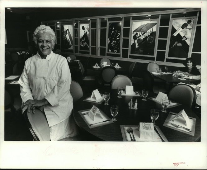 Leah Chase at Dooky Chase's Restaurant in 1985. (Matt Rose, NOLA.com | The Times-Picayune archive)