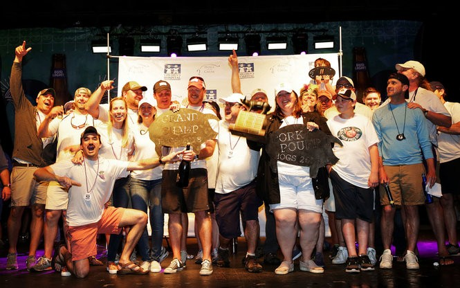 At the 2018 Hogs for the Cause, the team Swine Krewe took home the Grand Champion prize. (Photo by Dinah Rogers, courtesy Hogs for the Cause)