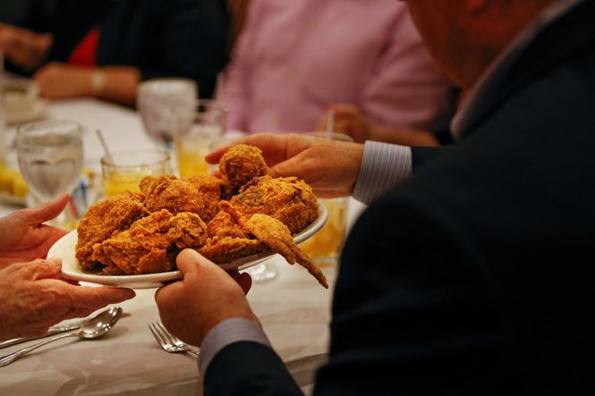 Fried chicken at Dooky Chase's Restaurant in New Orleans on Thursday, April 2, 2015. (Photo by Julia Kumari Drapkin, NOLA.com | The Times-Picayune archive)