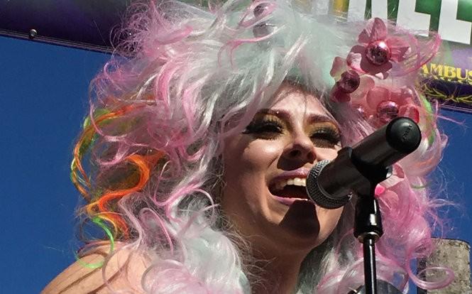 Amanda Shaw eantertains at The Bourbon Street Awards, Mardi Gras 2016 (Photo by Doug MacCash, NOLA.com   The Times-Picayune)