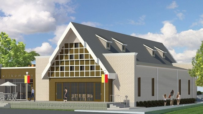 The new Deutsches Haus German cultural center headquarters is scheduled to open in November 2018 (Illustration courtesy Deutsches Haus)