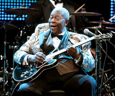 B.B. King, shown in a 2009 file photo, made a strong showing at New Orleans Jazz Fest 2013.