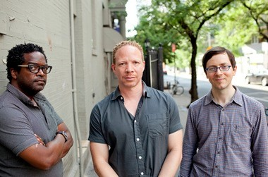 The Craig Taborn Trio has been a working unit since 2007. It includes, from left, drummer Gerald Cleaver, pianist Craig Taborn, and bassist Thomas Morgan.