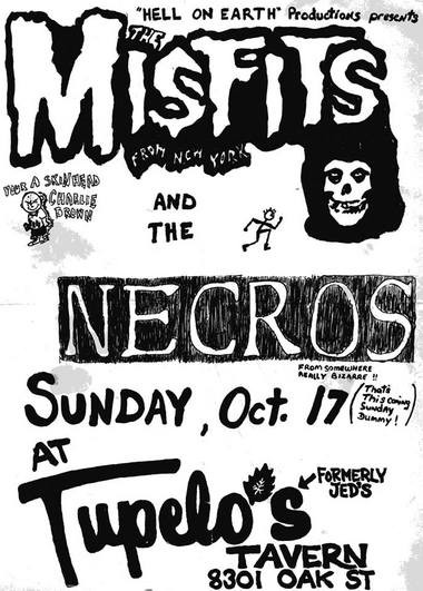 After a show at Tupelo's Tavern in 1982, horror-punk band the Misfits was famously arrested in St. Louis Cemetery No. 2.