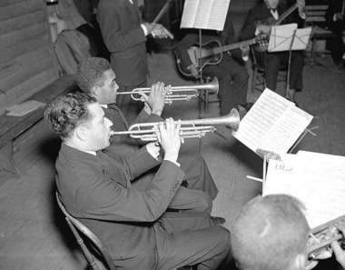 Lionel Ferbos, performing with the Works Progress Administration jazz band in 1937.