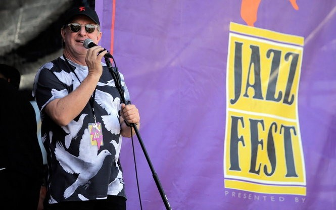 Quint Davis at the New Orleans Jazz Fest Sunday, May 3, 2015. (Photo by David Grunfeld, NOLA.com | The Times-Picayune)