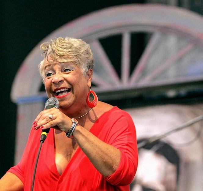 Wanda Rouzan performing at New Orleans Jazz Fest Saturday, May 2, 2015. (Photo by David Grunfeld, NOLA.com | The Times-Picayune)