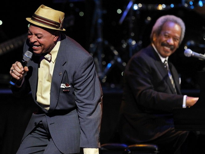 Deacon John, left, and Allen Toussaint, perform 'T'ain't It The Truth' during a benefit concert/tribute to Allen Toussaint at Harrah's New Orleans Theatre on April 30, 2013. 'A Tribute to Toussaint' raised money for New Orleans Artists Against Hunger and Homelessness, the nonprofit organization that Toussaint and Aaron Neville co-founded in 1985. (Photo by David Grunfeld, NOLA.com | The Times-Picayune archive)