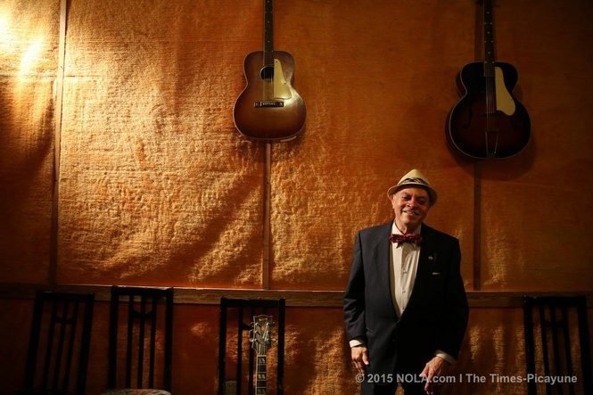 Deacon John Moore talks about his long friendship and musical partnership with Allen Toussaint at his Moore's home on November 10, 2015. (Photo by Kathleen Flynn, NOLA.com l The Times-Picayune)