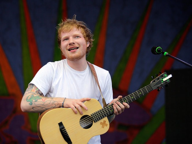 Ed Sheeran closes out the Gentilly Stage during the New Orleans Jazz Fest Saturday, May 2, 2015.