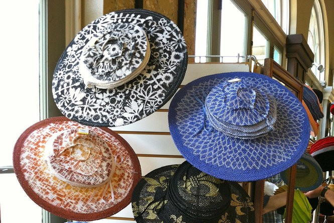 Tracy Thomson's inventory of hats from 2012 includes the Steven Tyler model top left (Photo courtesy Tracy Thomson)
