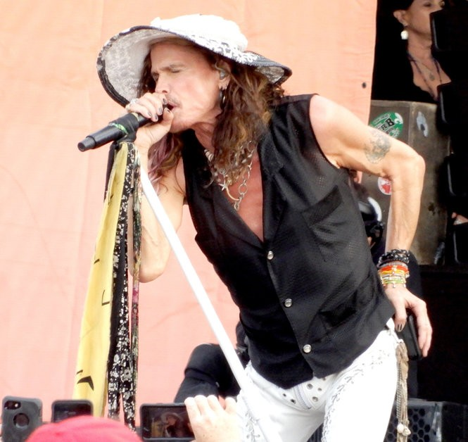 On second thought, maybe Steven Tyler's outfit wasn't so mismatched after all (Photo by Mark Rosenbaum)