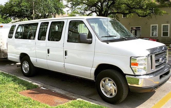 The band Naughty Professor's 15-seat Ford E-350 disappeared from the 4500 block of Banks Street in the wee hours of Monday, June 4, 2018.