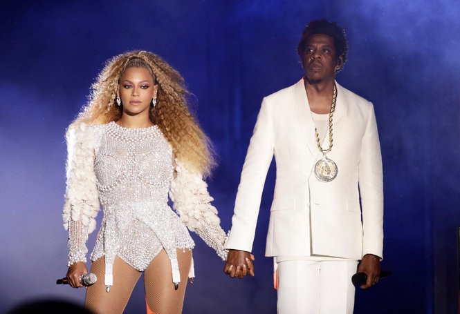 Note: We were denied permission to photograph the concert in New Orleans, though the costumes were similar to those worn in this picture, taken when Beyonce and Jay-Z perform their On The Run II tour at MetLife Stadium in East Rutherford NJ, Aug. 2, 2018. (Robin Harper   Parkwood Entertainment)