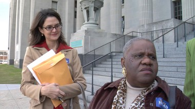 New Orleans City Councilwoman Stacy Head, left, and her friend and political advisor Barbara Lacen-Keller, in an image from the documentary 'Getting Back to Abnormal.'