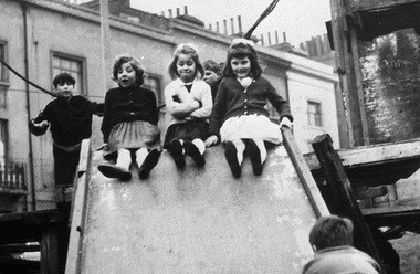 Jackie, Lynn and Sue, all 7, are shown from a 1963 archive photo from the film '56 Up.'